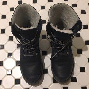 Timberland Navy Combat Boots